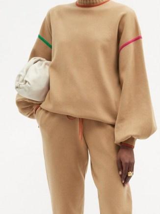 ROKSANDA Azalea high-neck embroidered sweater / relaxed shape with balloon sleeves - flipped