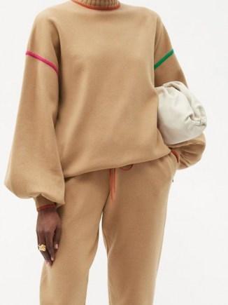 ROKSANDA Azalea high-neck embroidered sweater / relaxed shape with balloon sleeves