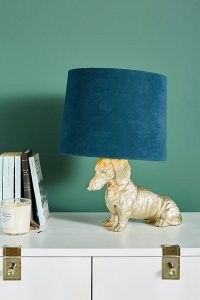 ANTHROPOLOGIE Dasher Dog Table Lamp ~ dachshund lamps ~ sausage dogs ~ homeware ~ home furnishings