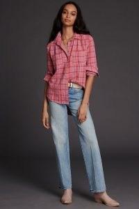 Seen Worn Kept Jay Plaid Buttondown Pink Combo ~ checked shirts