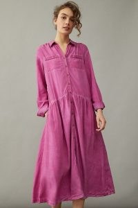 Pilcro Kimberly Maxi Dress Raspberry – pink shirt dresses