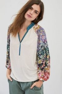 Tiny Eleanor Blouse / long floral sleeve blouses / women's summer tops