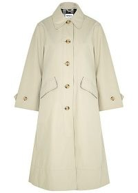 BARBOUR BY ALEXACHUNG Julie cream gabardine trench coat ~ loose fit mac