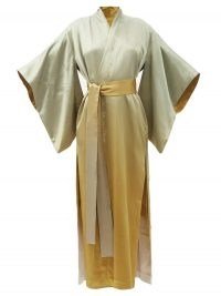 COMMON HOURS Bees and Honey reversible ombré-silk robe ~ luxe embroidered kimono robes ~ Amber Symond kimonos