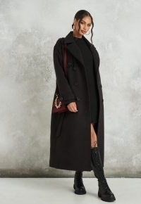 Missguided black formal trench coat | classic coats