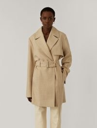 JOSEPH Wool Twill Chasy Coat ~ relaxed fit mid-length coats ~ contemporary trench