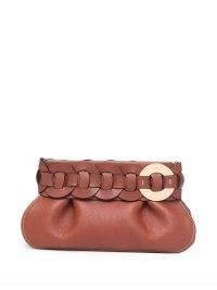 Chloé Darryl clutch / chic brown leather clutch bags