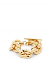 PACO RABANNE Chunky chain bracelet ~ statement bracelets with a T-bar clasp