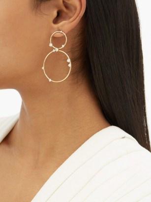 FERNANDO JORGE Circus diamond & 18kt gold hoop earrings / double hoops - flipped