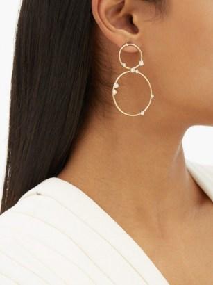 FERNANDO JORGE Circus diamond & 18kt gold hoop earrings / double hoops