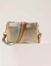 Boden Clementine Crossbody Bag Pale Gold