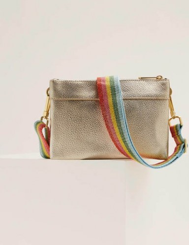 Boden Clementine Crossbody Bag Pale Gold - flipped