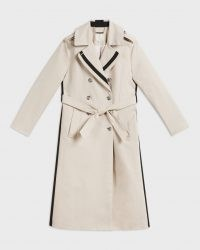 Ted Baker DAESTI Contrasting Detailed Trench Coat | stripe detail coats