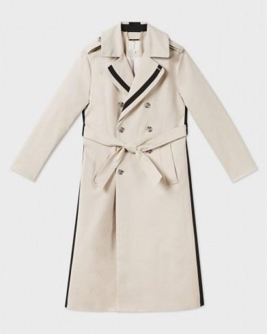 Ted Baker DAESTI Contrasting Detailed Trench Coat   stripe detail coats - flipped