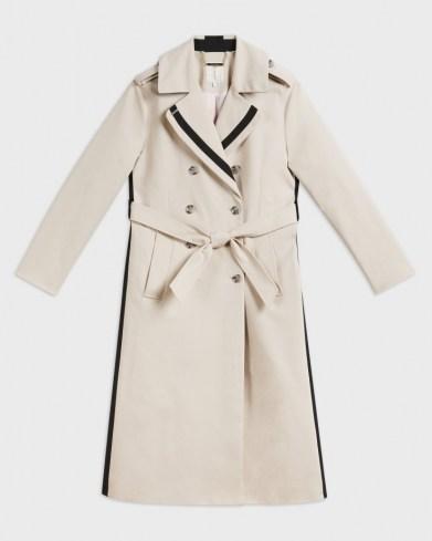 Ted Baker DAESTI Contrasting Detailed Trench Coat   stripe detail coats