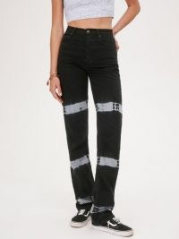 REFORMATION Cynthia Tie Dye High Rise Straight Long Jeans