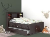 Factory Bunk Beds DISCOVERY WORLD FURNITURE FULL BOOKCASE CAPTAINS BED IN ESPRESSO