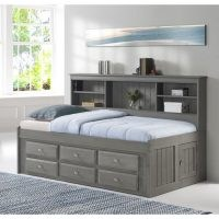 Factory Bunk Beds DISCOVERY WORLD FURNITURE TWIN BOOKCASE DAYBED IN CHARCOAL