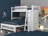Factory Bunk Beds DISCOVERY WORLD FURNITURE WHITE TWIN OVER FULL LOFT BED