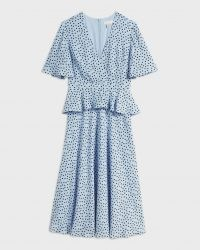 Ted Baker MABBEL Dotty peplum tea dress | vintage style dresses | spring fashion