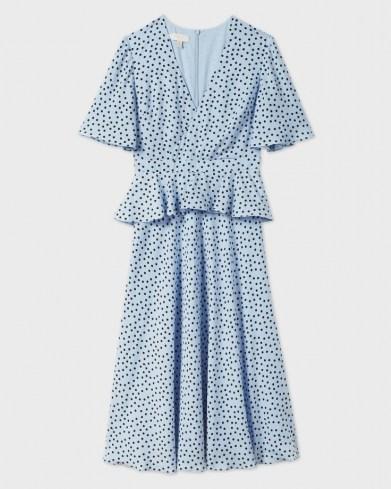 Ted Baker MABBEL Dotty peplum tea dress | vintage style dresses | spring fashion - flipped