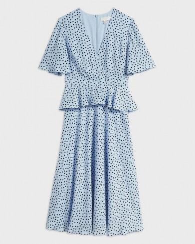 Ted Baker MABBEL Dotty peplum tea dress | vintage style dresses | spring fashion