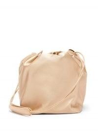 JIL SANDER Drawstring satin pouch bag / ballet pink bags