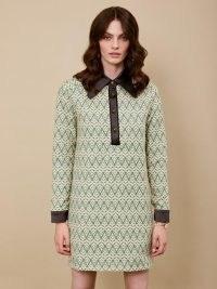 sister jane DREAM Wonderland Tapestry Mini Dress – oversized point collar dresses