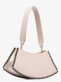 Elleme Pink Swing Leather Shoulder Bag ~ small chic handbags