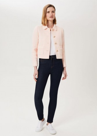 HOBBS FELICITY TWEED JACKET PALE PINK ~ chic classic style jackets
