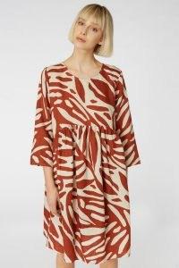 gorman FLOATING POINTS LINEN DRESS – printed smock dresses