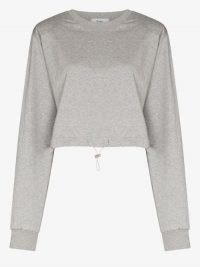 Frankie Shop Padded Shoulder Sweatshirt ~ structured sweat top