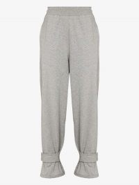 Frankie Shop Strapped Cuff Track Pants ~ cuffed joggers
