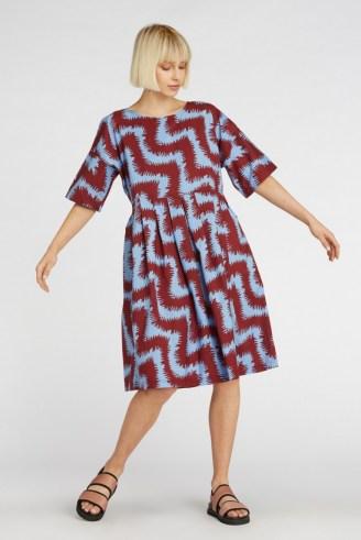 gorman FUZZY TIGER SADIE DRESS – loose swing fit dresses - flipped