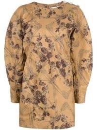 GANNI floral jacquard dress