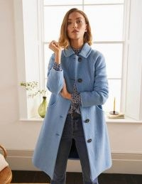 BODEN Hatfield Coat / chic light blue wool blend coats