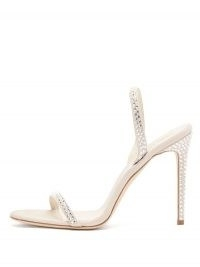 PARIS TEXAS Holly crystal-embellished suede sandals ~ luxe barely there slingback stiletto heels
