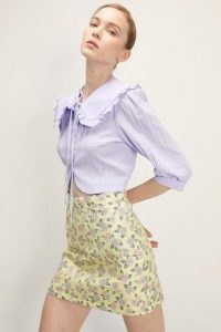 storets Annabelle Floral Skirt / yellow mini skirts for spring 2021