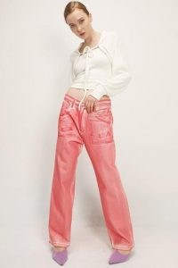 storets Genevieve Dyed Jeans   red denim