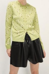 storets Brooke Floral Cardigan / green classic style button up cardigans