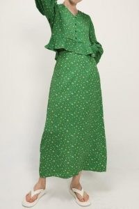 storets Josie Floral Maxi Skirt | long length green ditsy vintage style skirts | retro colours and style in fashion