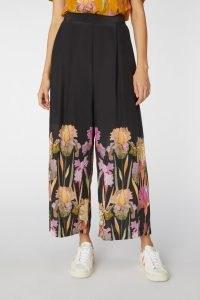 gorman IRIS BLACK PANT / floral trousers / wide leg pants