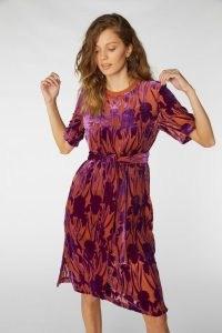 gorman IRIS DEVORE TEE DRESS / luxe floral burnout dresses