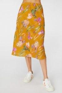 gorman IRIS GOLD SLIP SKIRT / spring and summer floral skirts