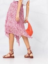 Isabel Marant Étoile abstract print asymmetric skirt – pink printed handkerchief hem skirts
