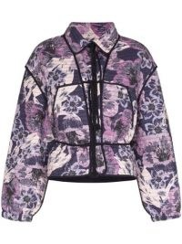 Isabel Marant Étoile Haines Floral Print Quilted Jacket ~ purple padded jackets