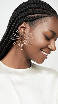 Jacquemus Les Fleurs Earrings | floral statement jewellery