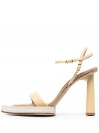 Jacquemus pointed-toe heeled sandals ~ leather and canvas sandal