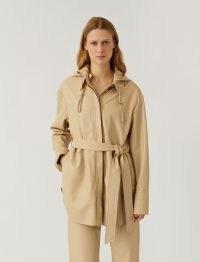 JOSEPH Nappa Leather Jala Shirt ~ luxe overshirt ~ tie waist overshirts