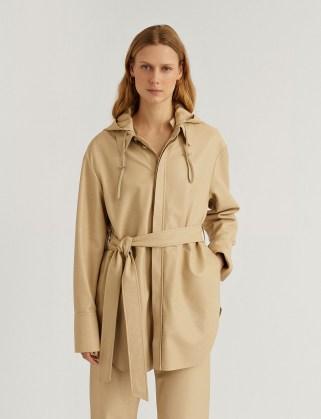 JOSEPH Nappa Leather Jala Shirt ~ luxe overshirt ~ tie waist overshirts - flipped
